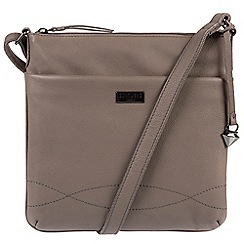Cultured London - Dark grey 'Gigi' soft leather slim cross-body bag