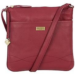 Cultured London - Red 'Gigi' soft leather slim cross body bag