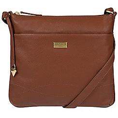 Cultured London - Sienna brown 'Gigi' soft leather cross-body bag