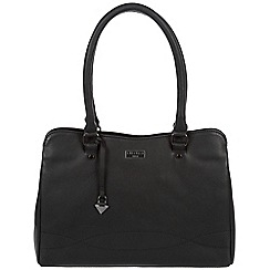Cultured London - Black 'Kadie' soft leather hand bag