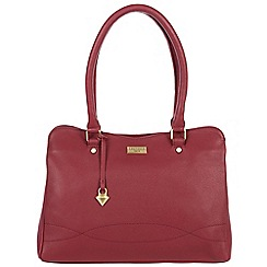 Cultured London - Red 'Kadie' soft leather hand bag