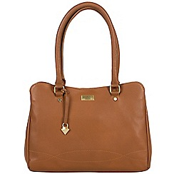 Cultured London - Tan 'Kadie' soft leather hand bag