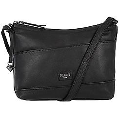Cultured London - Black 'Delilah' soft leather cross body bag