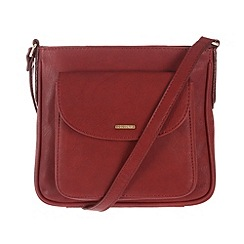 Cultured London - Red 'Carli' cross-body bag