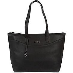 Cultured London - Black 'Oriel' leather tote bag