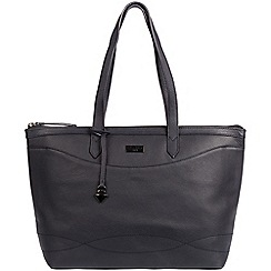 Cultured London - Navy 'Oriel' leather tote bag