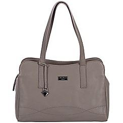 Cultured London - Grey 'Lorin' soft leather handbag