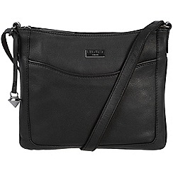 Cultured London - Black 'Margo' soft leather cross body bag