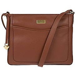 Cultured London - Sienna brown 'Margo' leather cross-body bag
