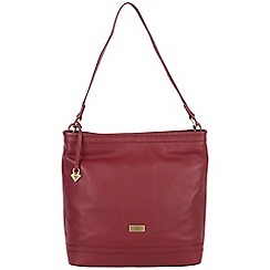 Cultured London - Red 'Neesa' soft leather bag