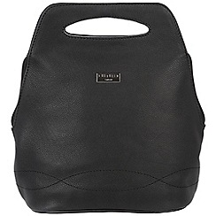 Cultured London - Black 'Paige' soft leather backpack