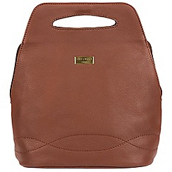 Cultured London - Conker brown 'Paige' soft leather backpack