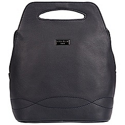 Cultured London - Navy 'Paige' soft leather backpack