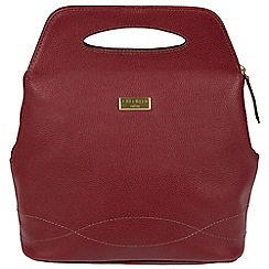 Cultured London - Ruby Red 'Paige' leather backpack bag