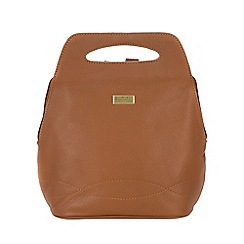 Cultured London - Tan 'Paige' soft leather backpack