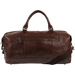 Cultured London - Dark Brown 'Toure' buffalo leather holdall