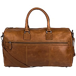 Cultured London - Chestnut 'Expedition' buffalo leather holdall