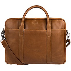Cultured London - Chestnut 'Assignment' buffalo leather work bag