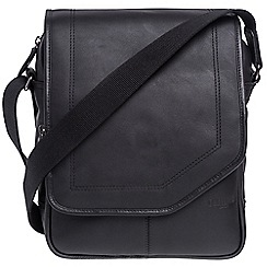 Cultured London - Black 'Scene' buffalo leather despatch bag