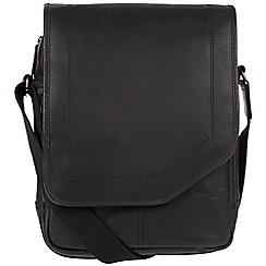 Cultured London - Black 'Scene' medium leather despatch bag