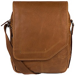 Cultured London - Chestnut 'Scene' buffalo leather despatch bag