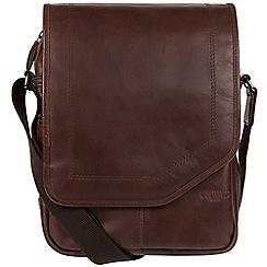 Cultured London - Dark brown 'Scene' medium leather despatch bag