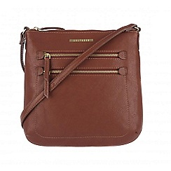 Cultured London - Nut brown 'Demi' small cross-body bag