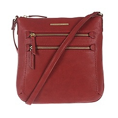 Cultured London - Red 'Demi' small cross-body bag