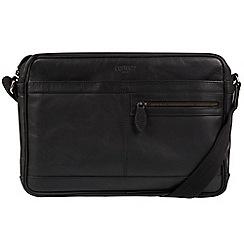 Cultured London - Black 'Trek' leather messenger bag