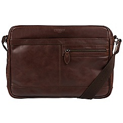 Cultured London - Dark Brown 'Trek' leather messenger bag
