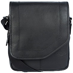 Cultured London - Black 'Trip' buffalo leather despatch bag