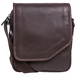 Cultured London - Dark brown 'Trip' buffalo leather despatch bag