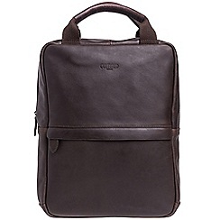 Cultured London - Dark brown 'Revolution' buffalo leather backpack