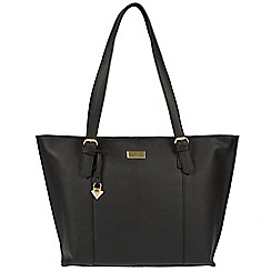 Cultured London - Black 'Penny' leather tote bag