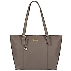 Cultured London - Grey 'Penny' leather tote bag