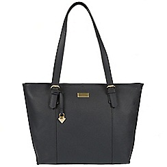 Cultured London - Dark grey 'Penny' leather tote bag