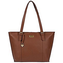 Cultured London - Sienna brown 'Penny' leather tote bag