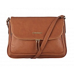 Cultured London - Tan 'Emeli' cotton-lined across body bag