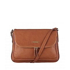Cultured London - Tan 'Emeli' cross-body bag