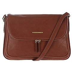 Cultured London - Nut brown 'Emeli' cross-body bag
