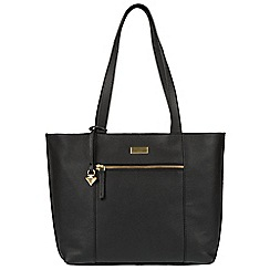 Cultured London - Black 'Bella' leather tote bag
