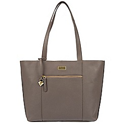 Cultured London - Grey 'Bella' leather tote bag