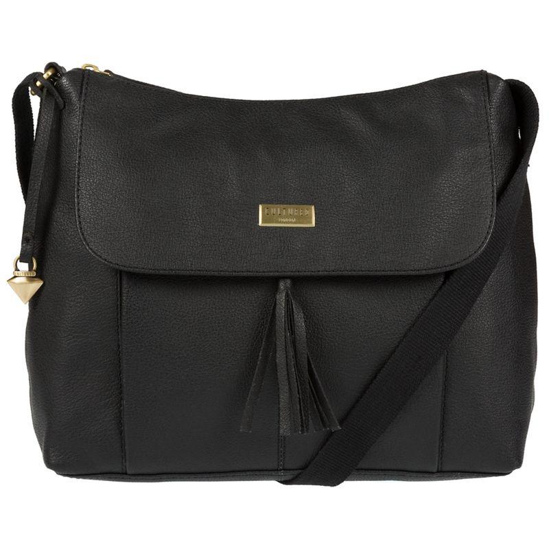 Cultured London Black Hobo leather bag