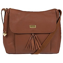 Cultured London - Sienna brown 'Hobo' leather bag