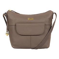Cultured London - Grey 'Emma' leather hobo bag