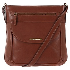 Cultured London - Nut brown 'Alicia' cross-body bag