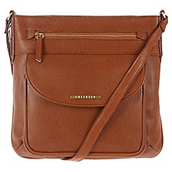 Cultured London - Tan 'Alicia' cross-body bag