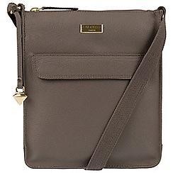 Cultured London - Grey 'Bonnie' leather cross-body bag