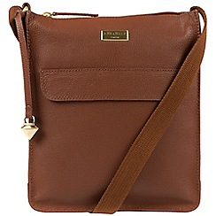 Cultured London - Sienna brown 'Bonnie' leather cross-body bag