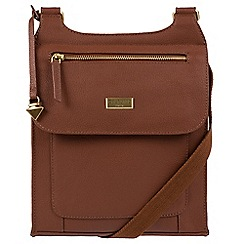 Cultured London - Sienna Brown 'Madison' leather cross-body bag